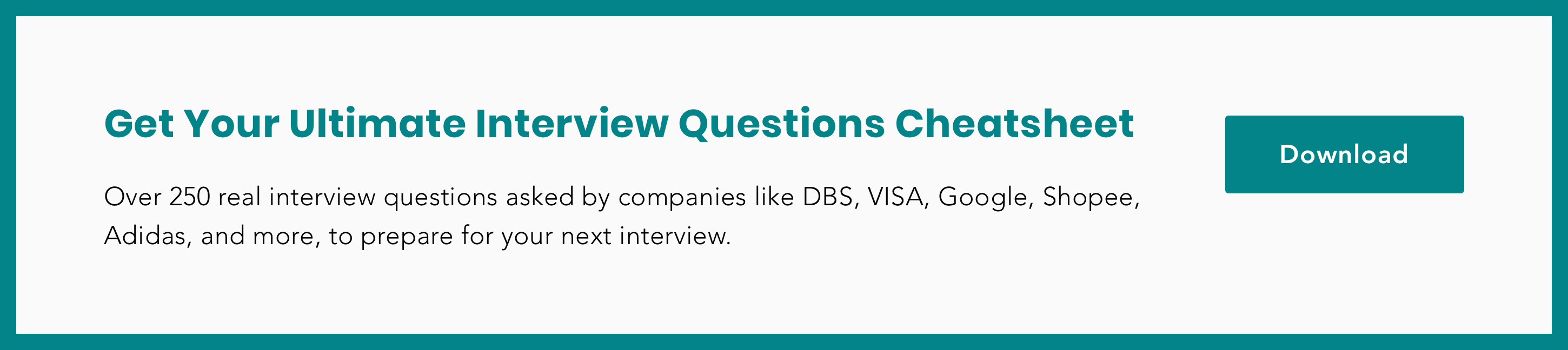 Download Ultimate Interview Questions Cheatsheet