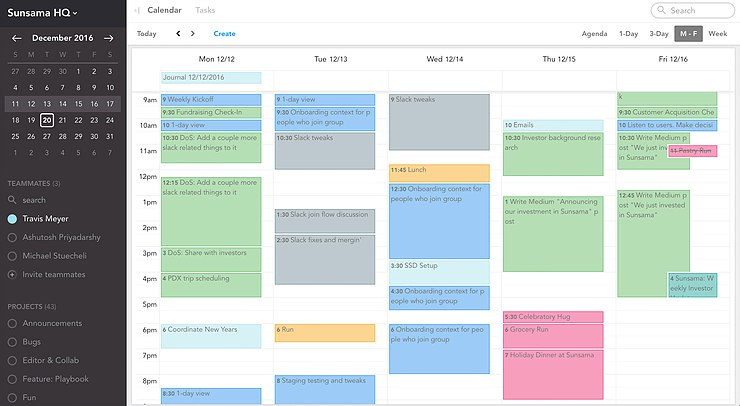 Time-boxed calendar to create structure in our work life