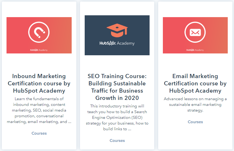 hubspot free marketing courses