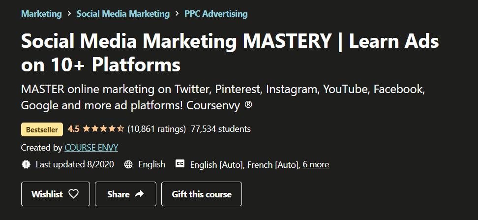 Udemy Social Media Marketing Mastery