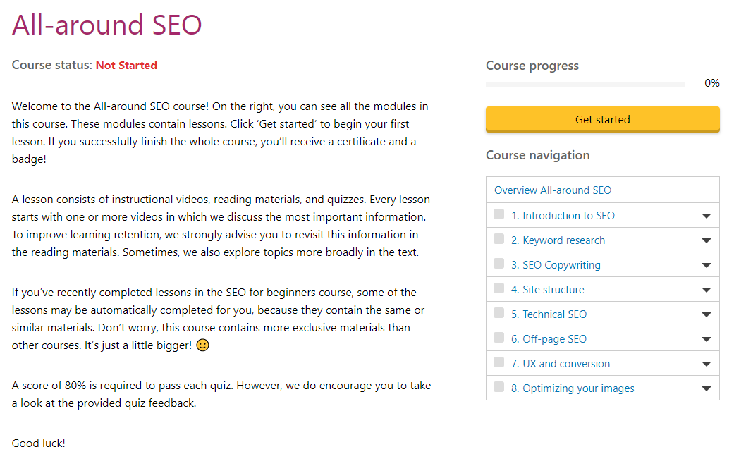 YOAST Academy All-Around SEO