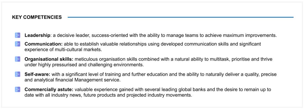 Model resume personality traits